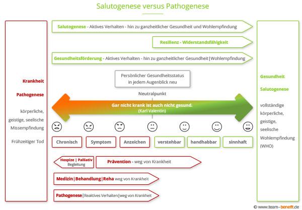 Salutogenese versus Pathogenese web
