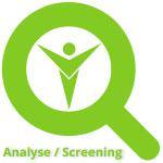 Analyse persönliche Gesundheit web Screening